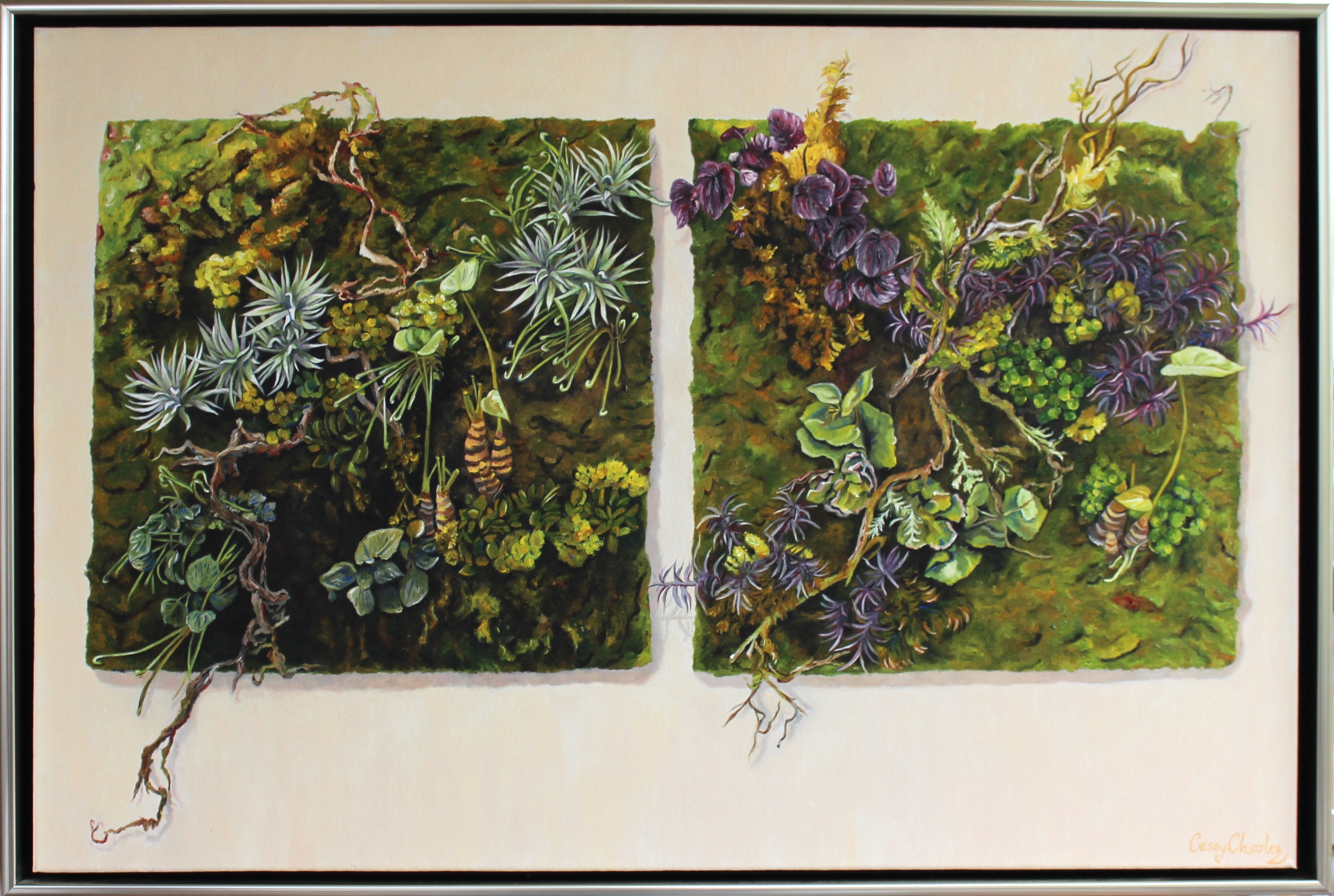 'The French Vertical Garden' Oil on Canvas 92cm x 62cm