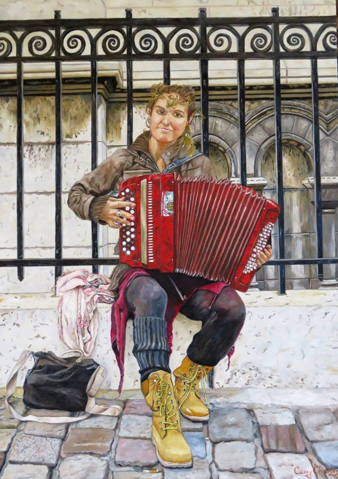 'The Gypsy of Montmartre' Oil on Canvas 52cm x 72cm