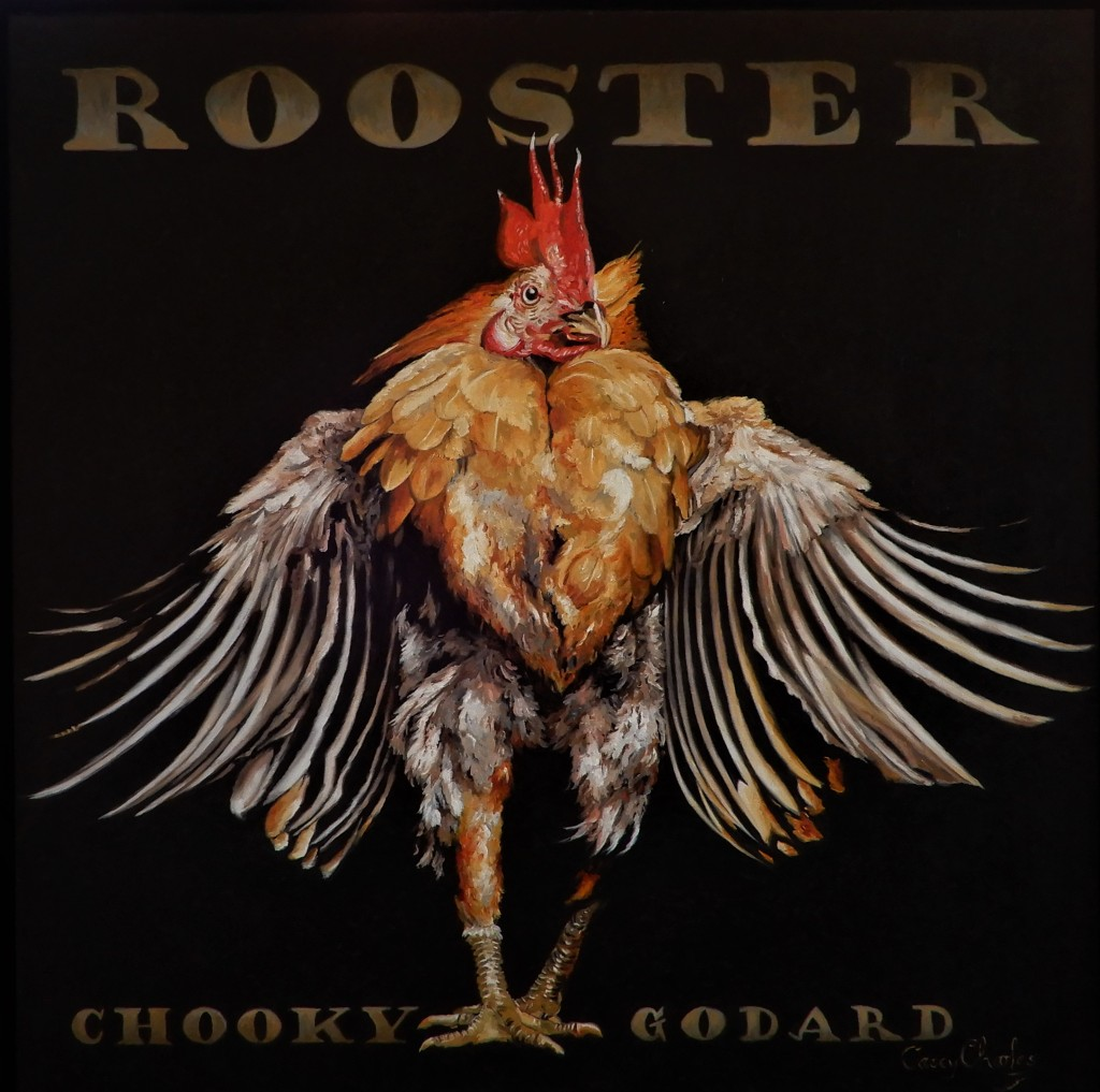 'Chooky Godard' Oil on Canvas 60cm x 60cm