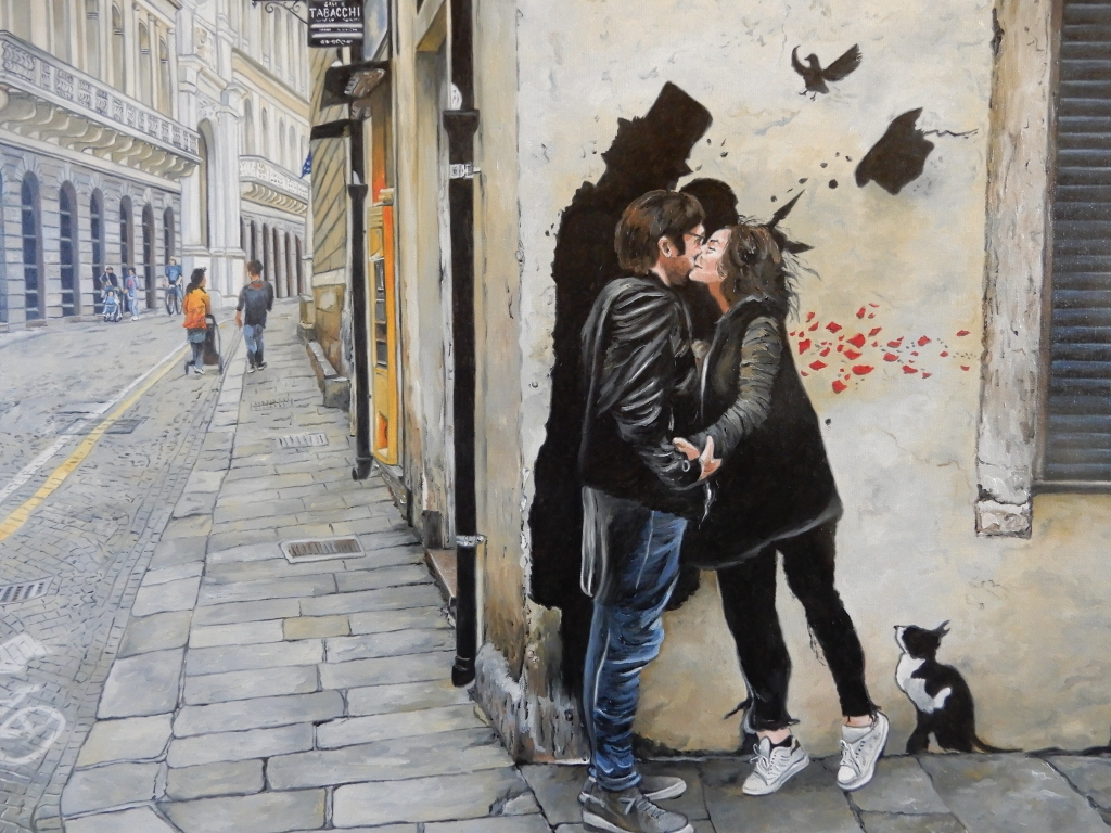 'The Padua Kiss' Oil on Canvas 72cm x 52cm
