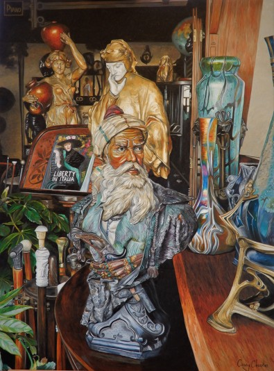 'In the Florentine Antique Shop' Oil on Canvas 90cm x 120cm