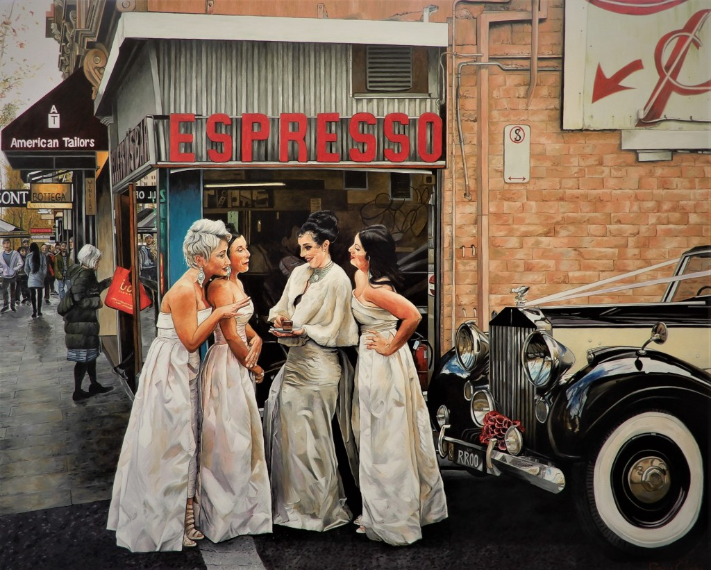 'The Last Coffee' Oil on Canvas 150cm x 120cm