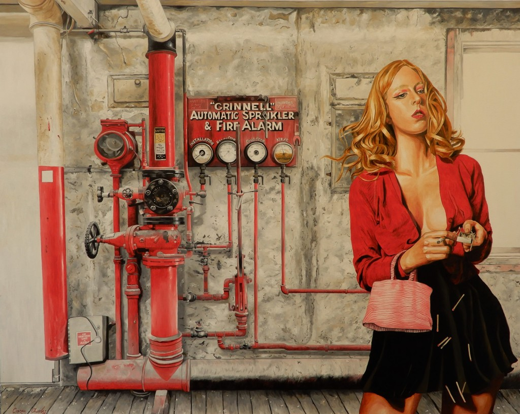 'Light It Up' Oil on Canvas 150cm x 120cm