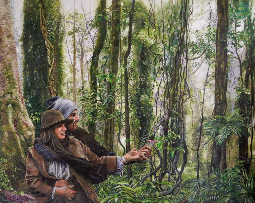 'Rainforest Dancing' Oil on Canvas 151cm x 121cm