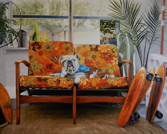 'The Sc8er Boys Lounge' Oil on Canvas 150cm x 120cm